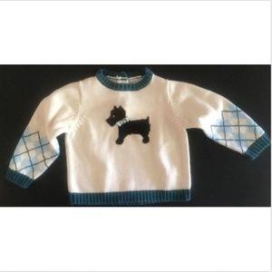 GYMBOREE Girls Knit SWEATER sz 18-24 m Scottie Dog